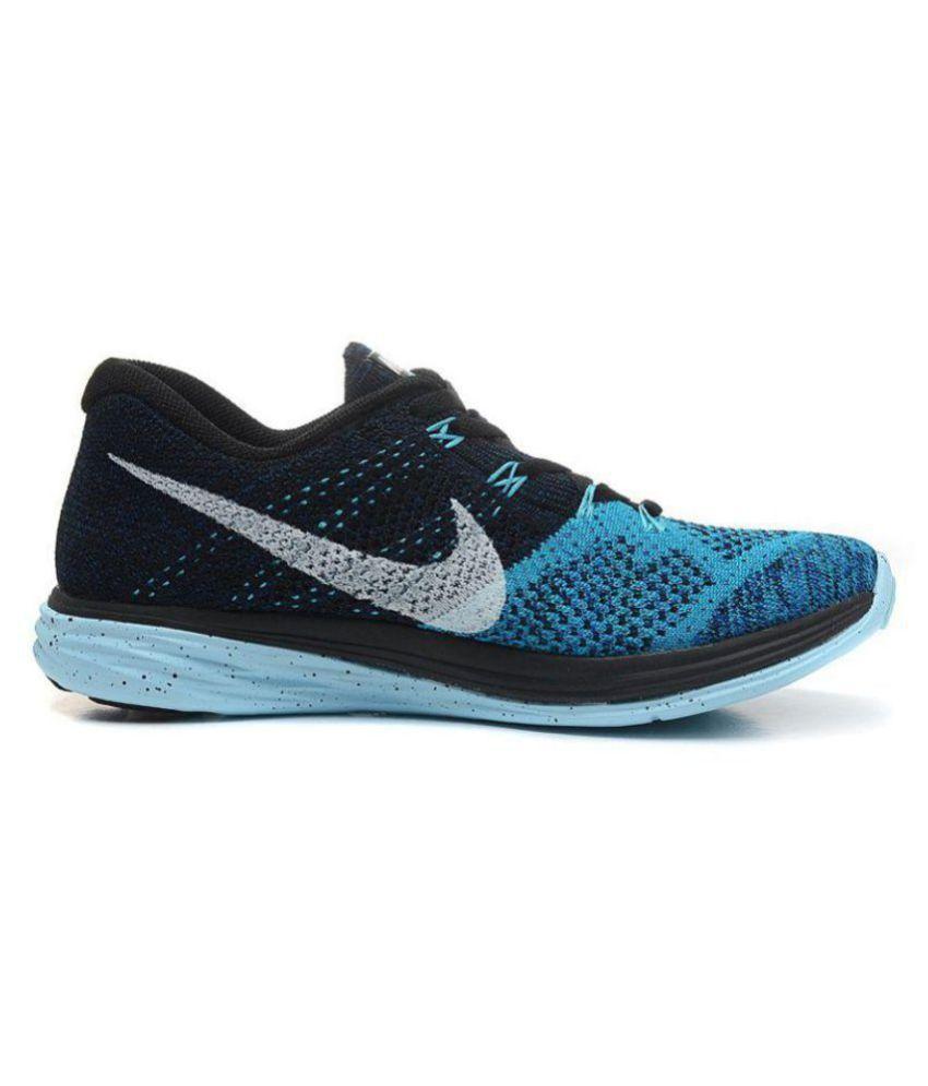 the best attitude 468e2 0fbf3 ... Nike Flyknit Lunar 3 Blue Running Shoes ...
