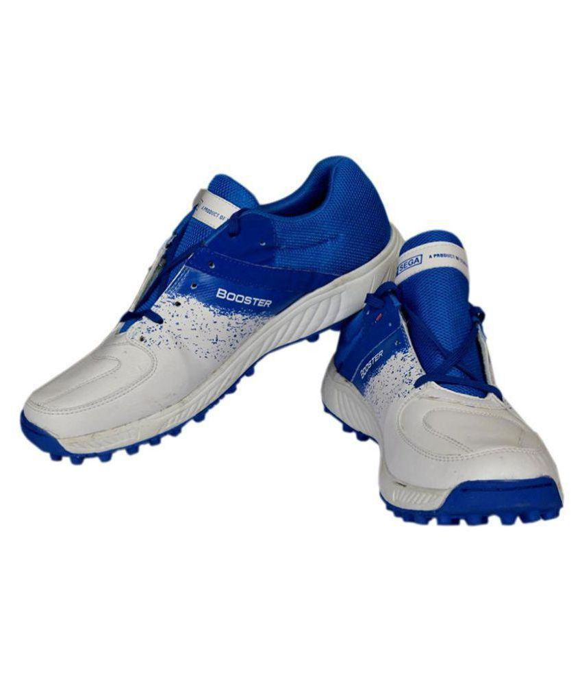 SEGA Rubber Stud Booster White Cricket Shoes - Buy SEGA Rubber Stud Booster White Cricket Shoes Online at Best Prices in India on Snapdeal