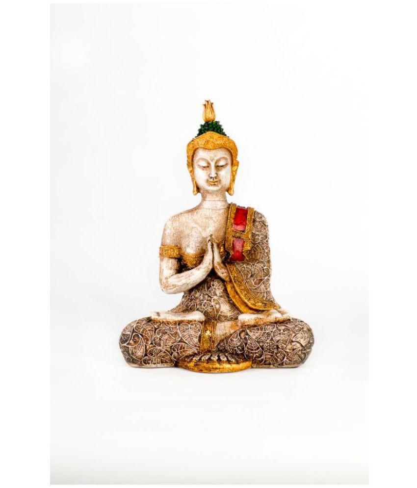 Shree padam art exim Buddha Polyresin Idol