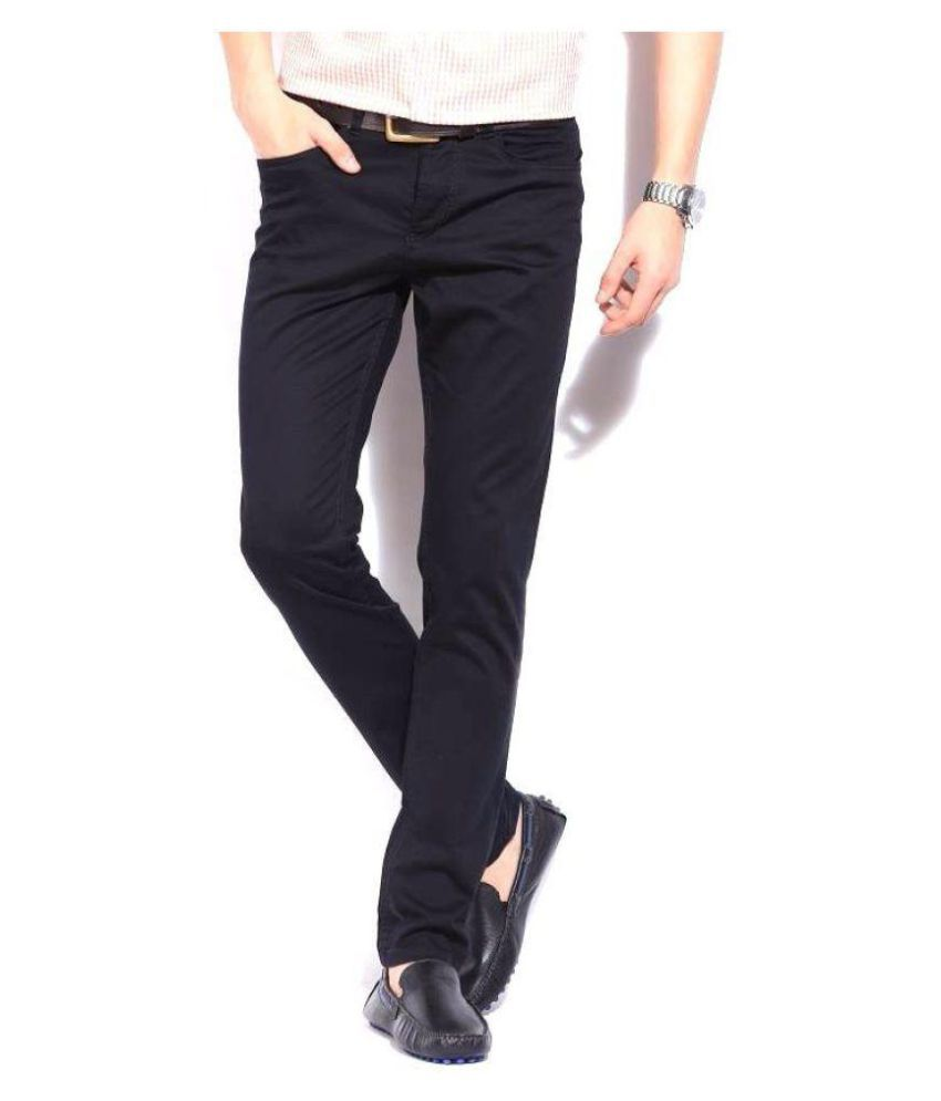 Kenneth Cole REACTION Black Slim -Fit Flat Trousers