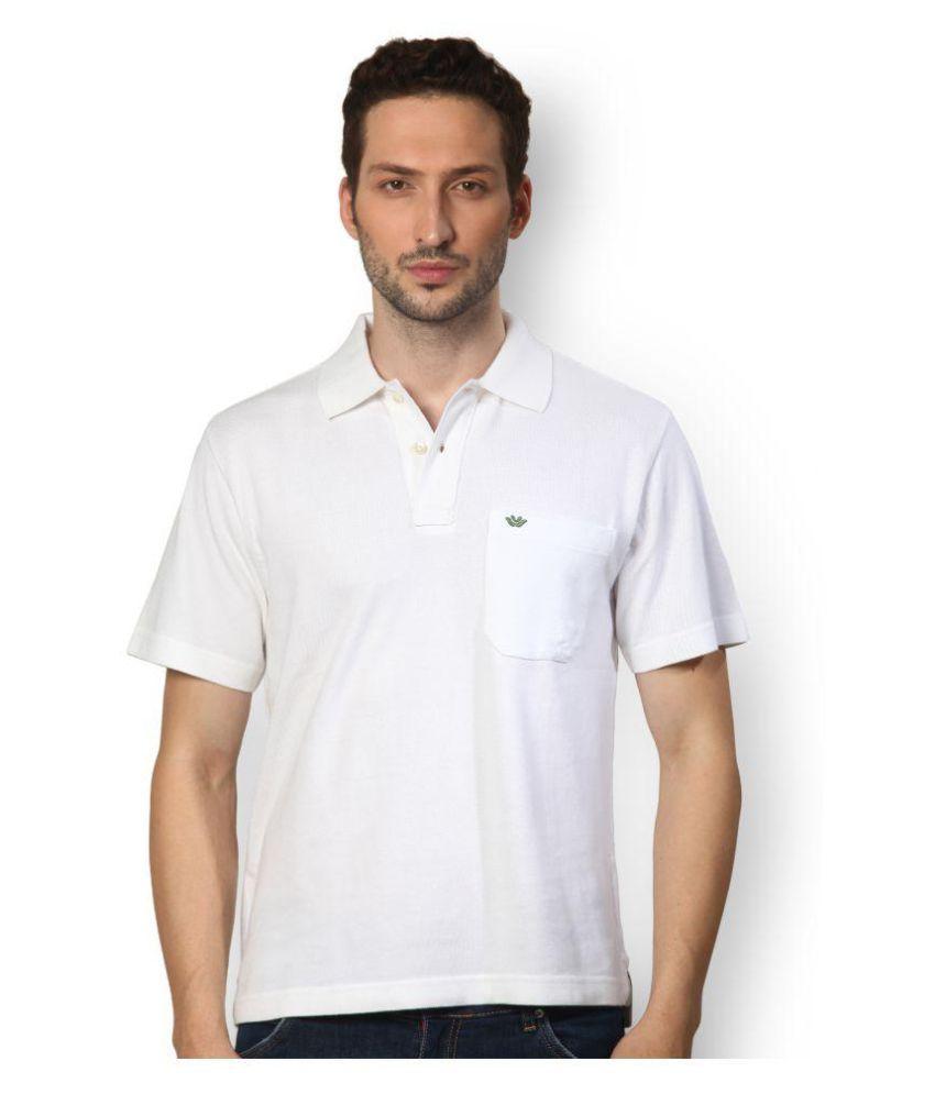 UV & W White Cotton Polo T-Shirt