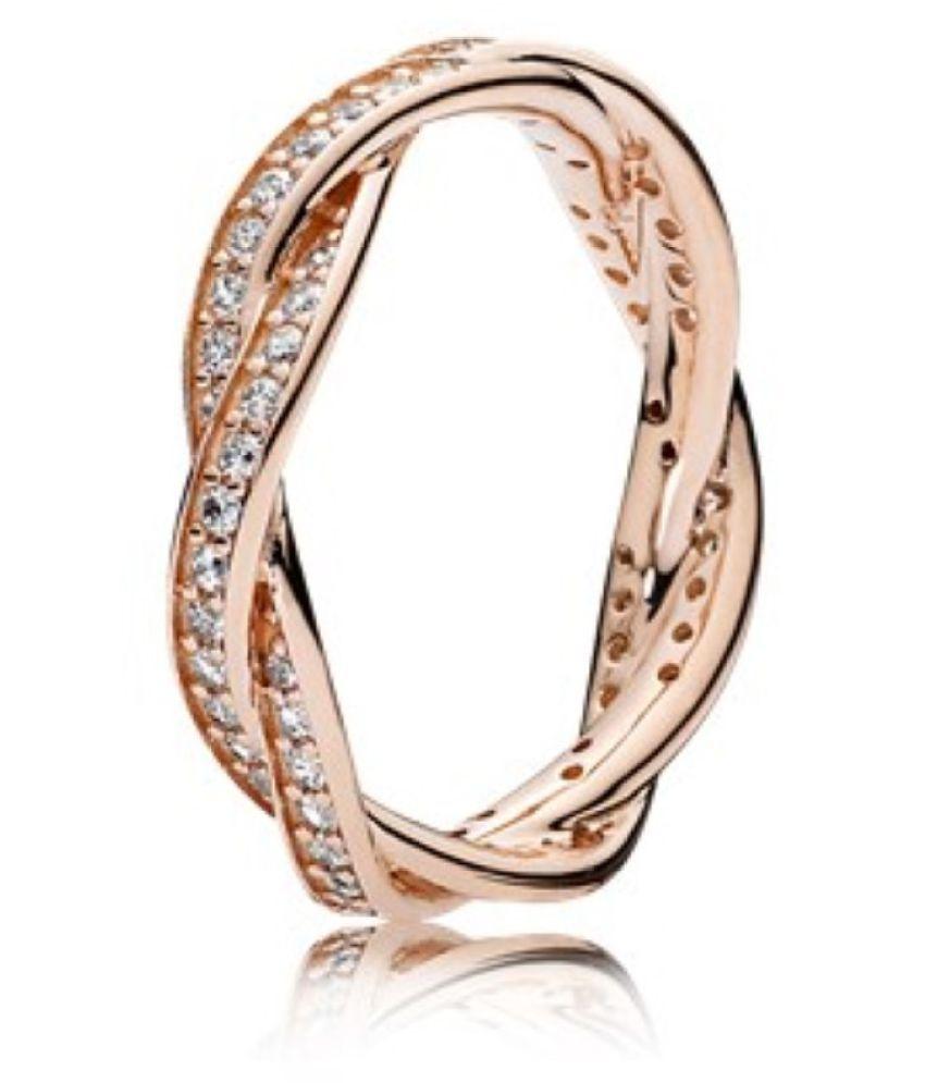 Karat Square 18k Rose Gold Band Ring