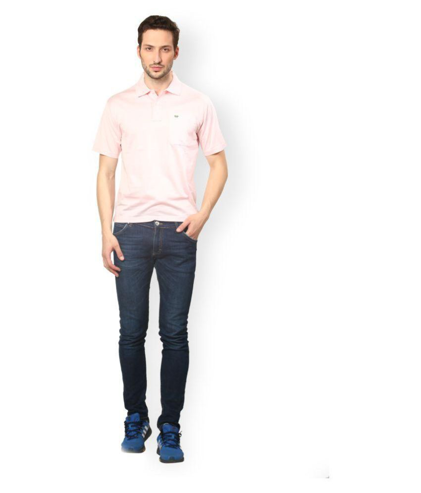 UV & W Pink Cotton Polo T-Shirt