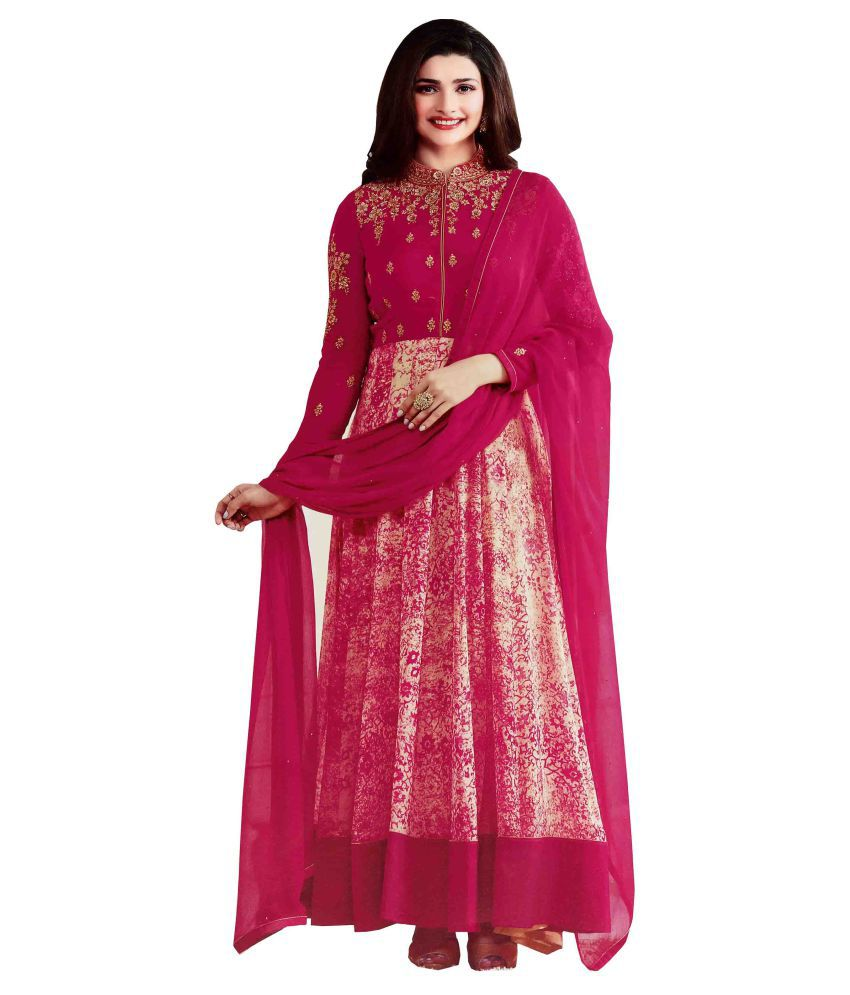 80008ee7a2a FASHION CARE Red and Pink Georgette Anarkali Semi-Stitched Suit - Buy  FASHION CARE Red and Pink Georgette Anarkali Semi-Stitched Suit Online at  Best Prices ...