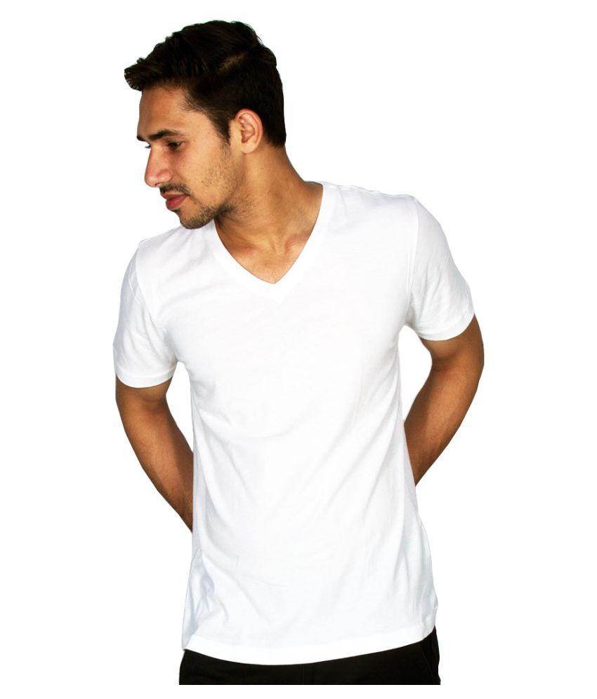 Hollane Fashion Ware White V-Neck T-Shirt
