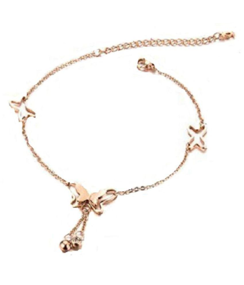 stainless gold anklet rose steel wholesale womens