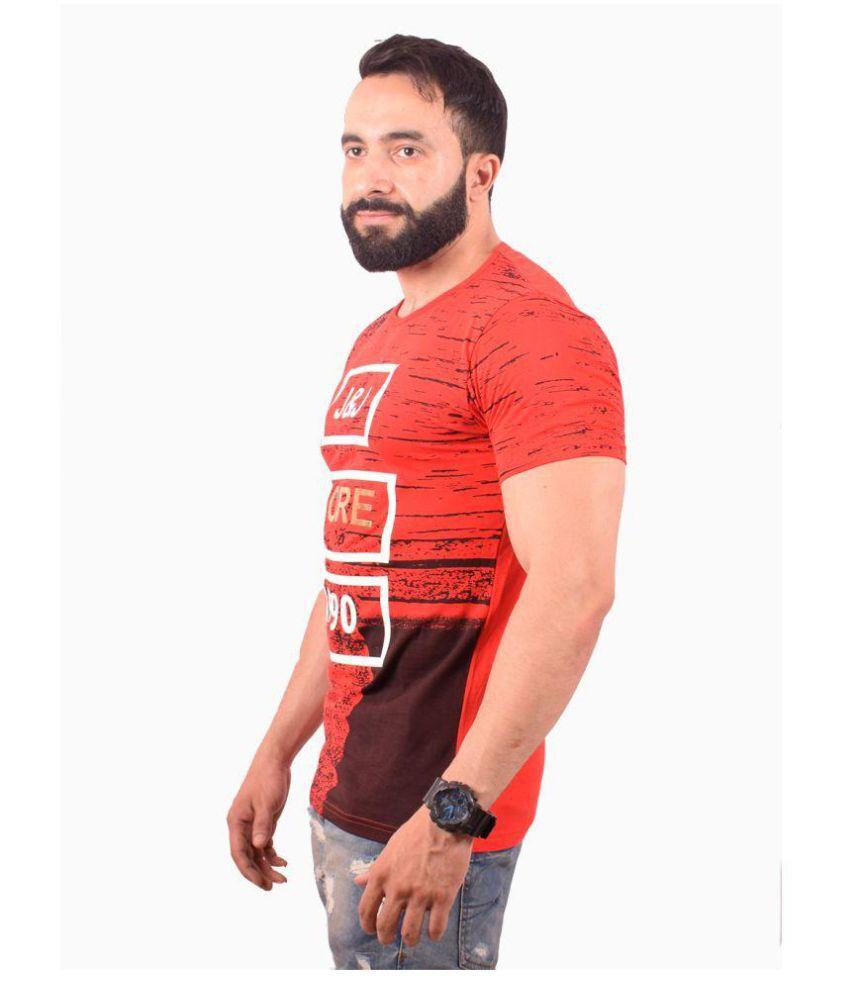clothi fashion Red Round T-Shirt
