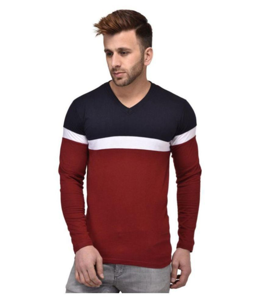 M Style Multi V-Neck T-Shirt