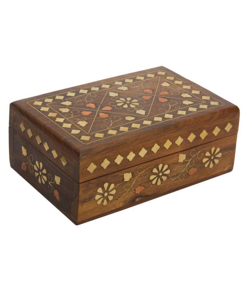 Indian Handicrafts Handmade Wooden Box Vanity Jewelry