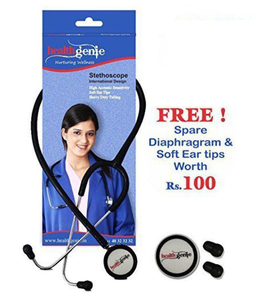 Healthgenie HG-301B Doctors Dual Stainless Steel Stethoscope 65 cm Cardiology