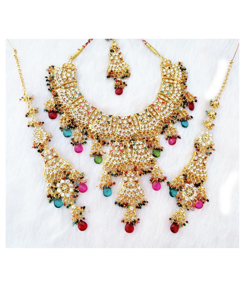 Kundan Zerconic Necklace Set