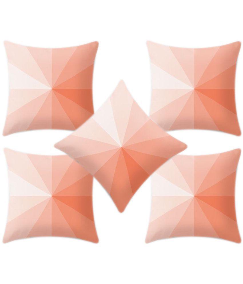 Dream Star Set of 5 Satin Cushion Covers 40X40 cm (16X16)