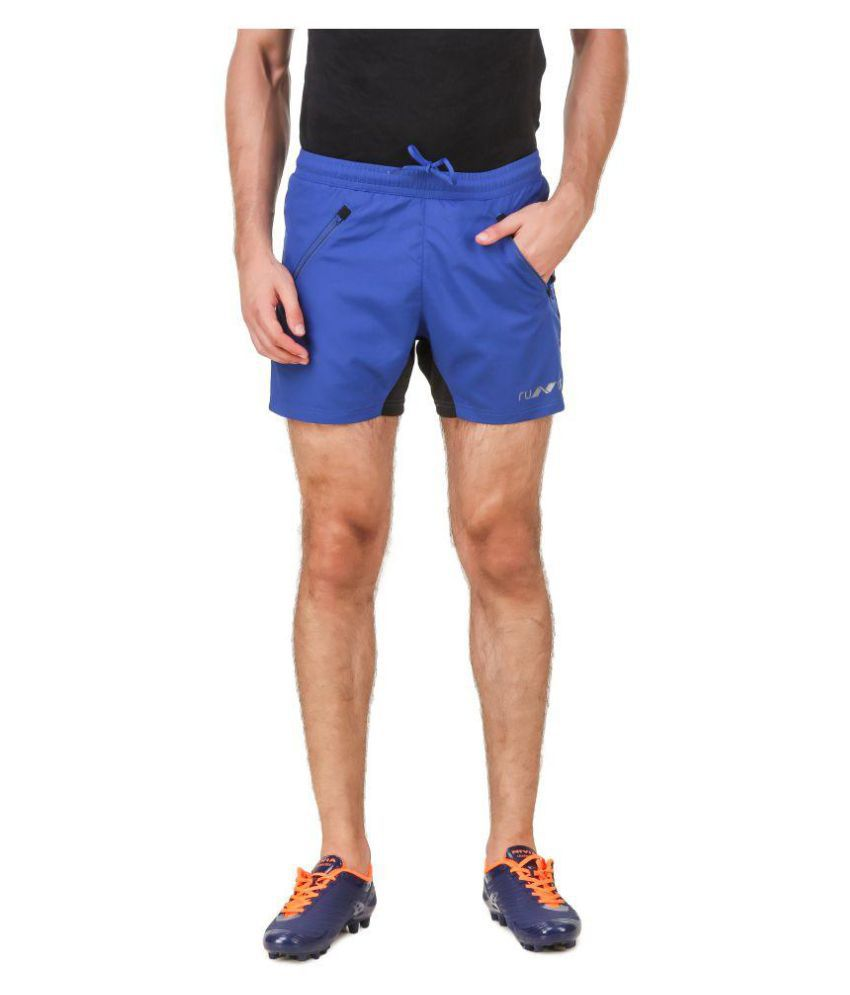 Nivia Blue Polyester Fitness Shorts-2311M2