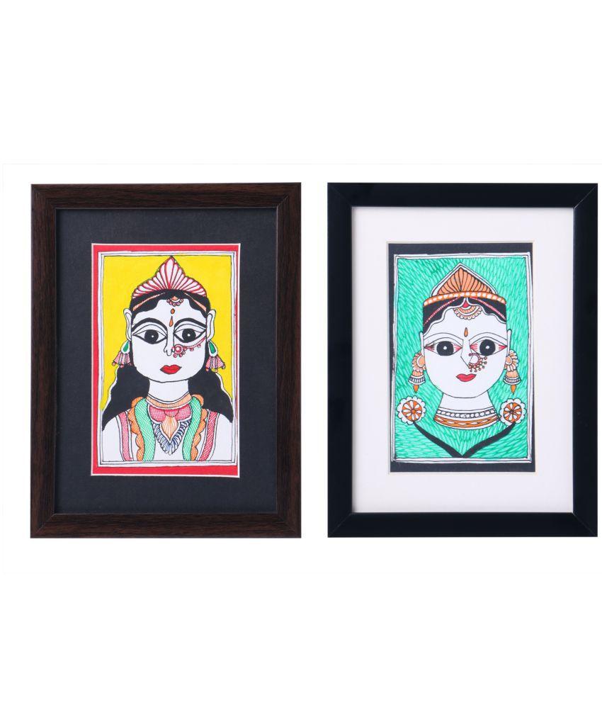 iMithila Wood Painting With Frame