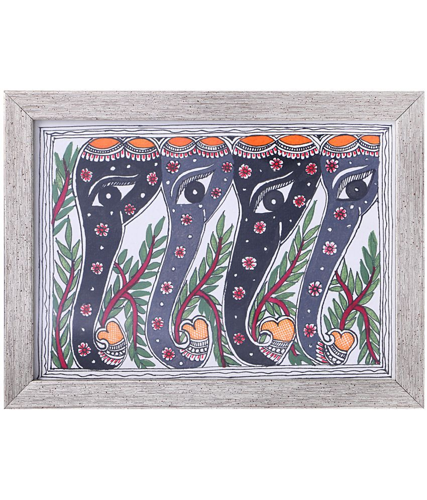 iMithila Wood Painting With Frame