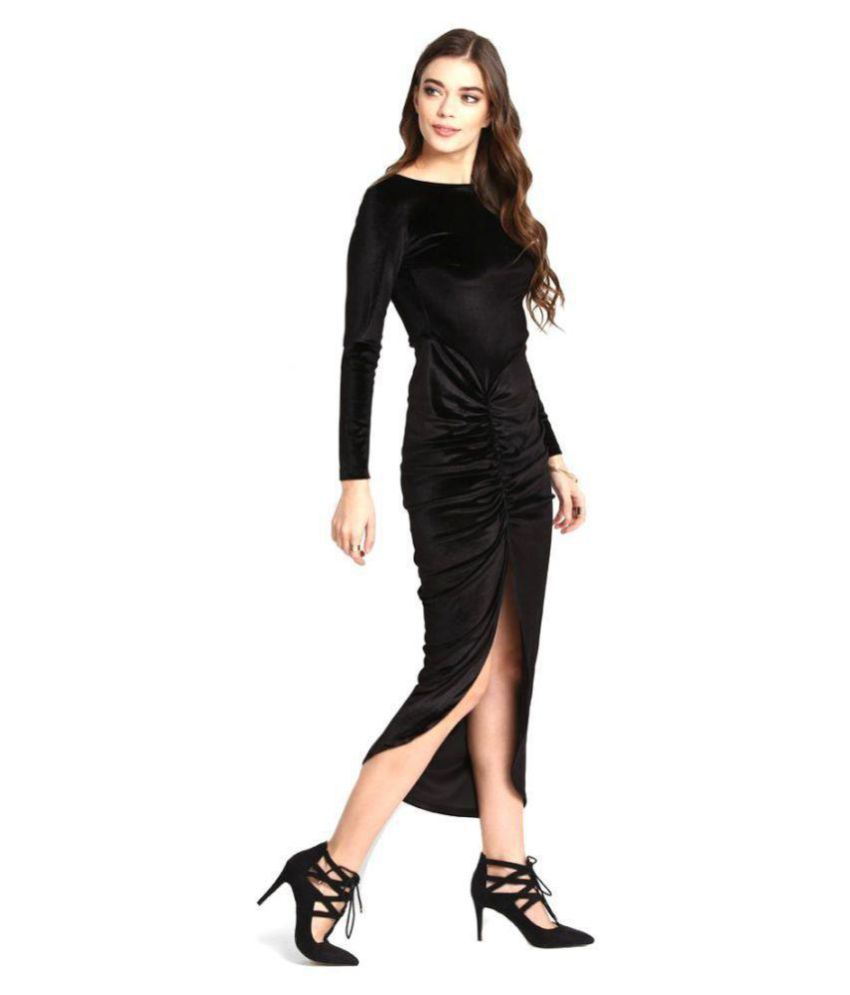 Aashish Fabrics Velvet Cut Out Dress