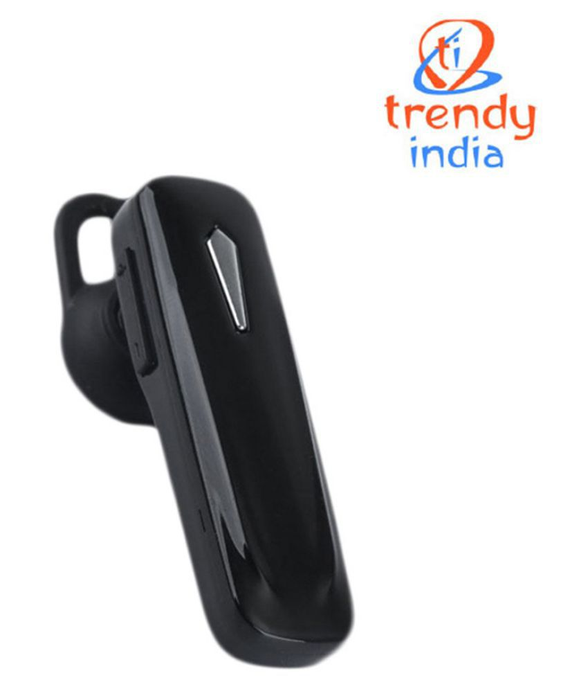 Trendyindia Bluetooth Headset With Mic Black Bluetooth Headsets Online At Low Prices Snapdeal India
