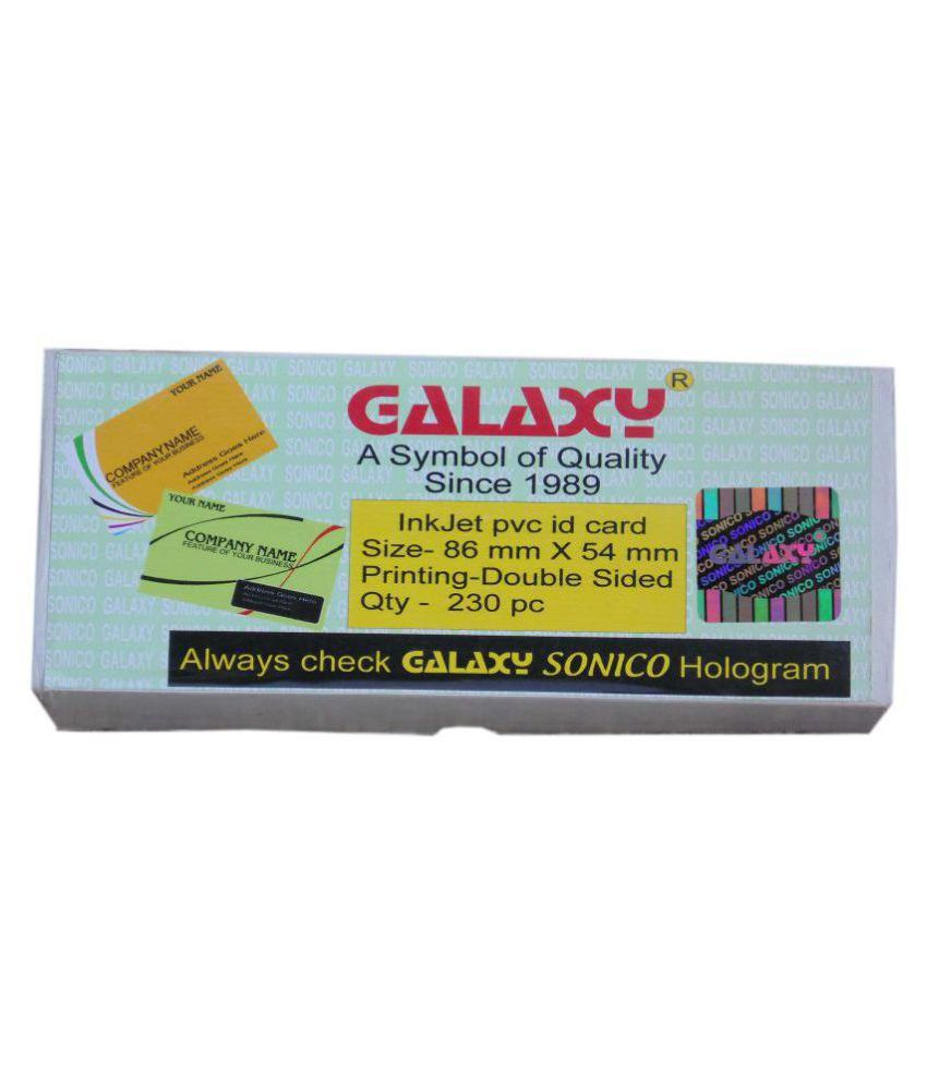 Galaxy Blank Inkjet Pvc Id Cards For Inkjet Printer Pack Of 230