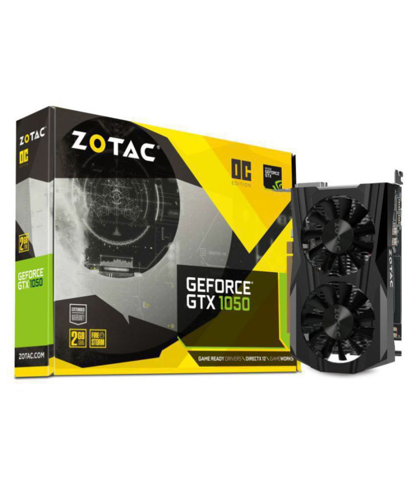Zotac NVIDIA GTX 1050 2 GB DDR5 Graphics card