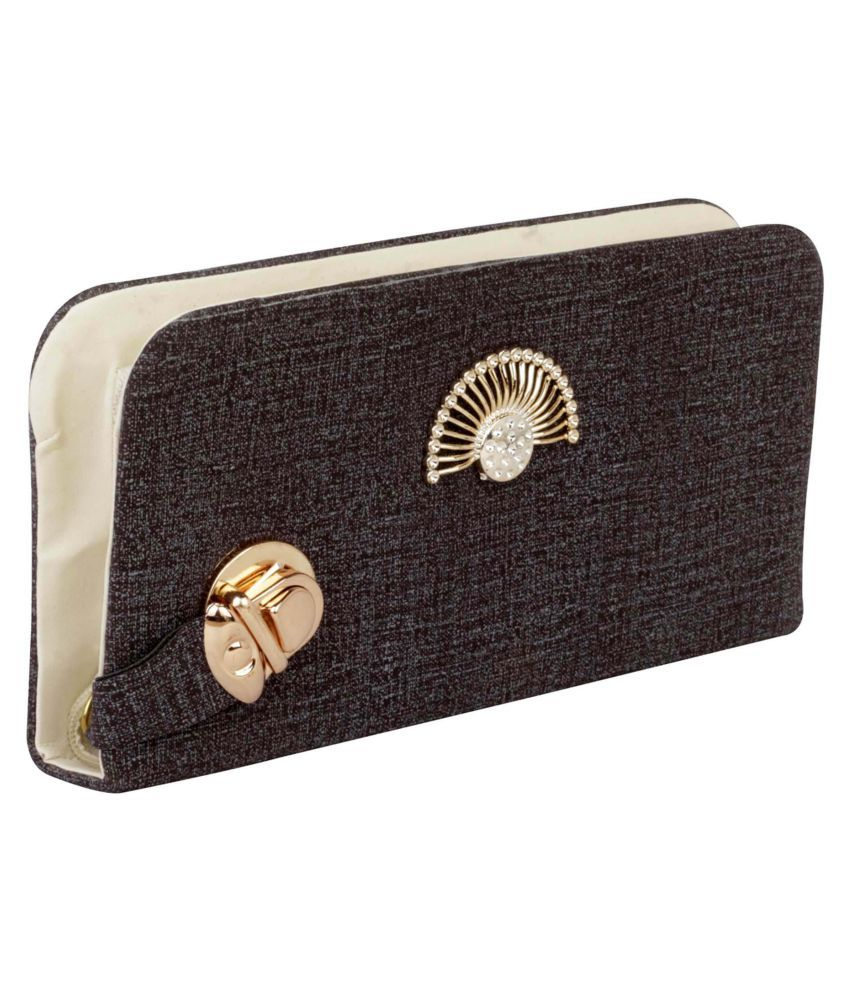 ROVEC Brown Fabric Box Clutch