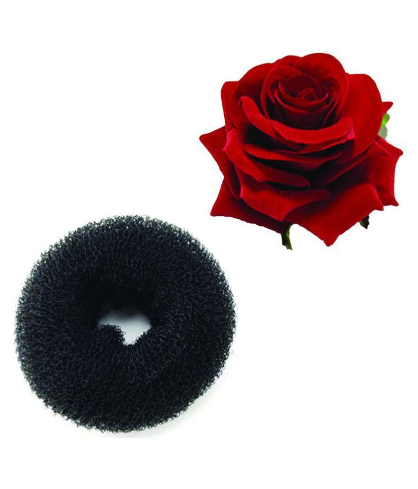 Majik World Hair donut and red rose clip Styler