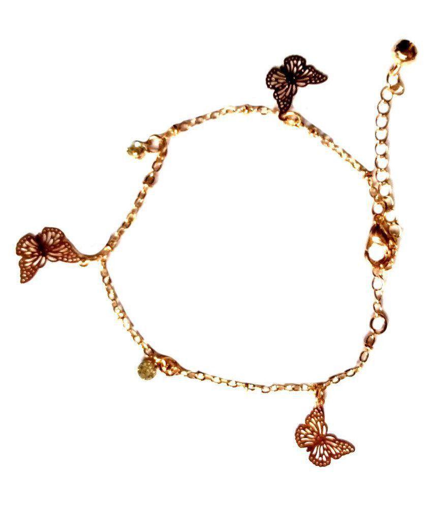 Fashionable Golden  alloy Anklet By shrungarika