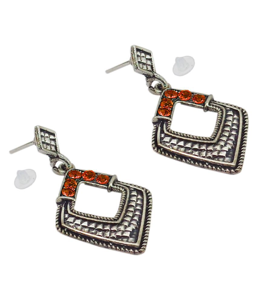 SlksIndia Craft-New Bollywood Designer and Anniversary or Partywear Brown Earrings