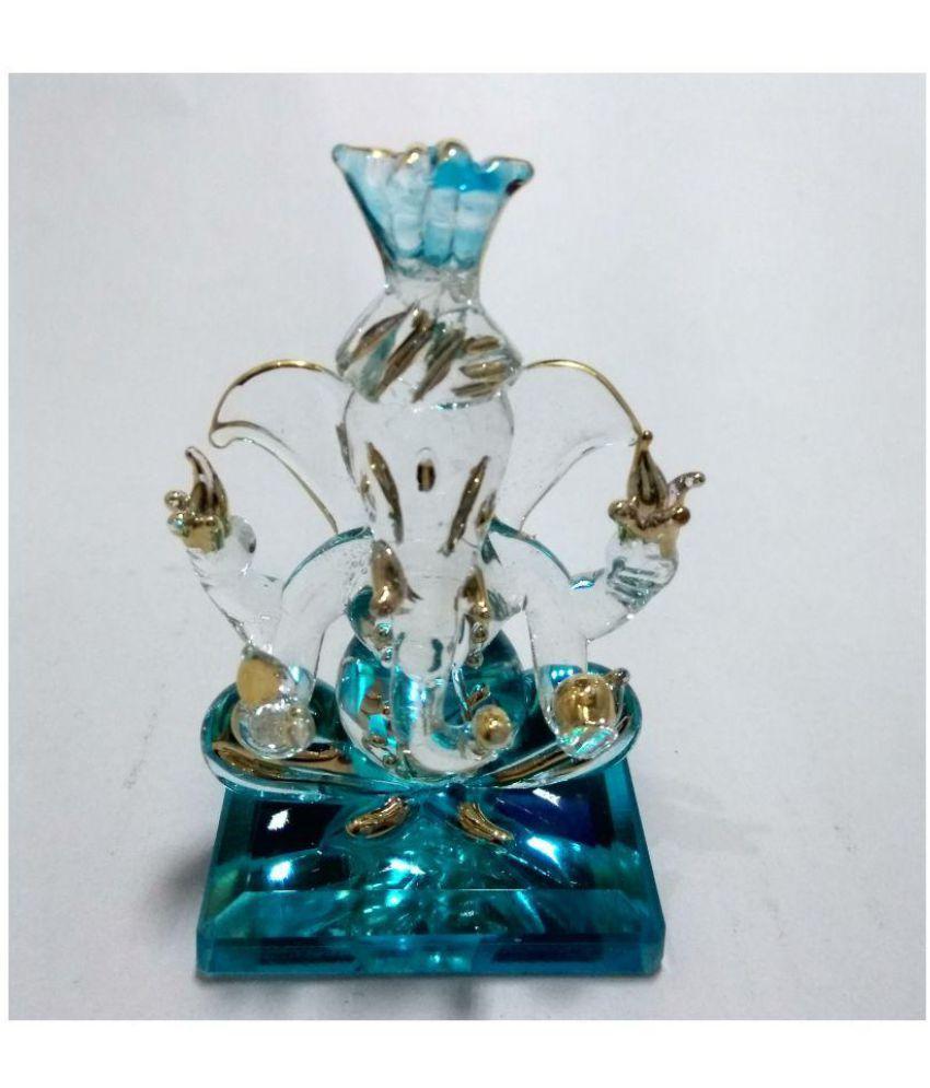 Braj Ganesha Glass Idol
