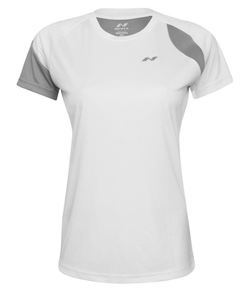Nivia Polyester Grey T-Shirts