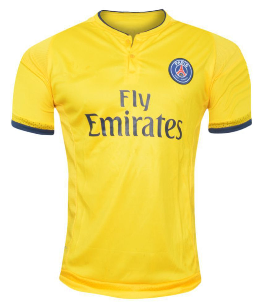 best service 2bc34 fd1a8 PSG Yellow Polyester Jersey