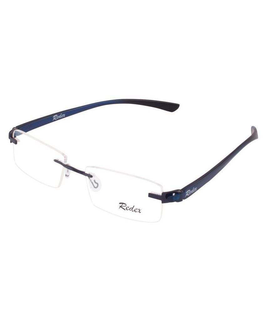 2c959b56f50 Redex Blue Rectangle Spectacle Frame 936 - Buy Redex Blue Rectangle ...