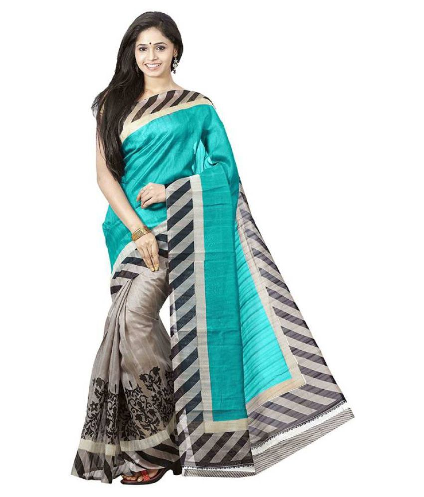 VastraParidhan Multicoloured Bhagalpuri Silk Saree