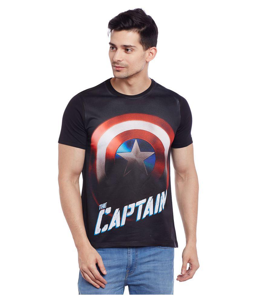 Marvel Avengers Black Round T-Shirt