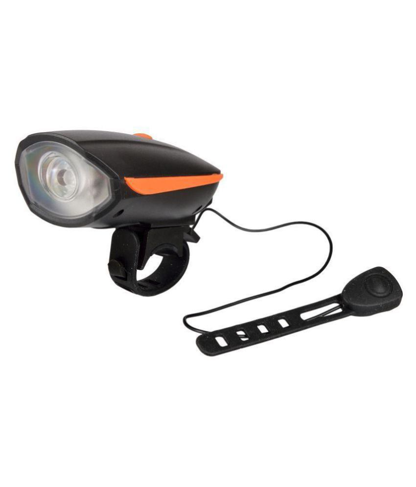 DarkHorse Bicycle CE Standard USB Rechargeable 3 Mode LED Front light and Horn 2 in 1 Light/Horn, Orange