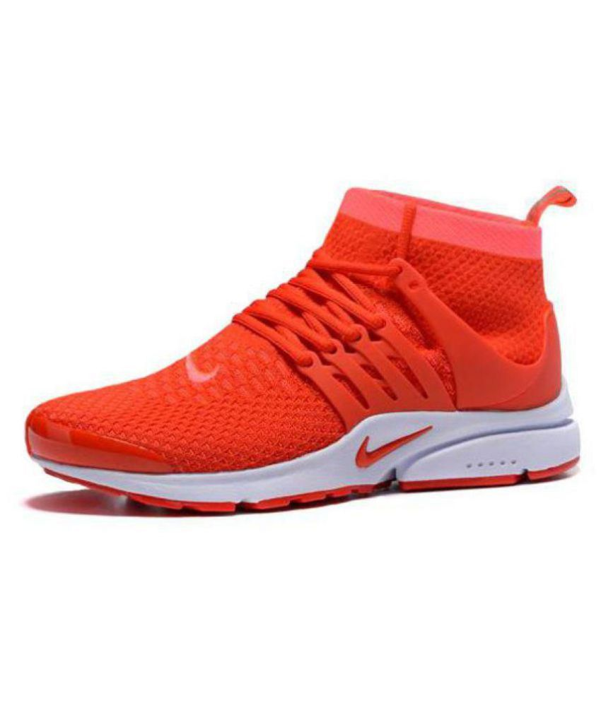 sale retailer 7d189 2c549 Nike AIR PRESTO ULTRA FLYKNIT Orange Running Shoes - Buy Nike AIR PRESTO  ULTRA FLYKNIT Orange Running Shoes Online at Best Prices in India on  Snapdeal