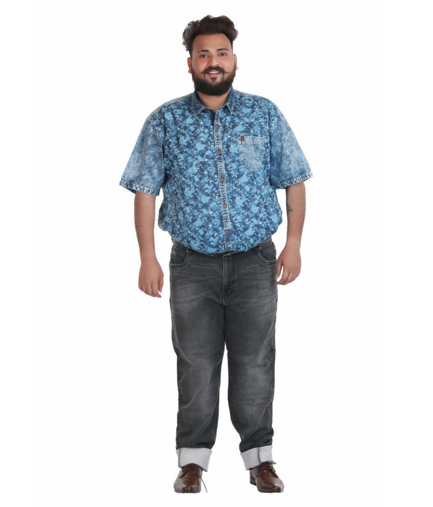 Xmex Grey Regular Fit Jeans