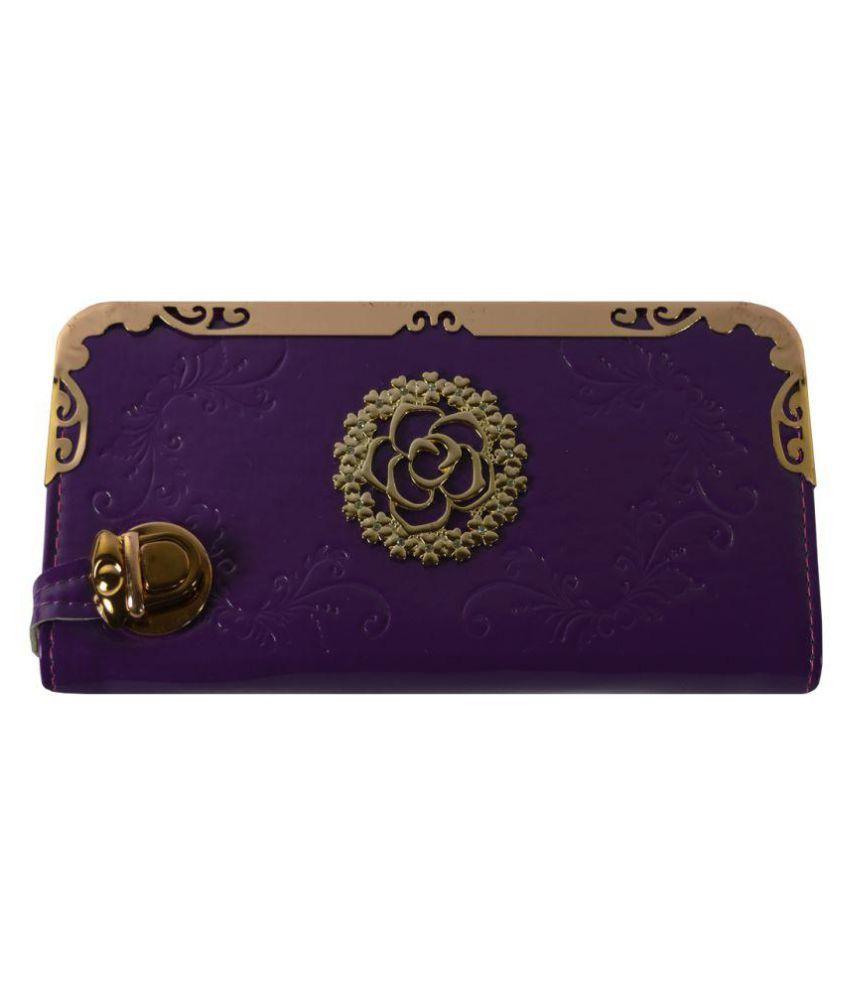 Glitters Online Purple Wallet