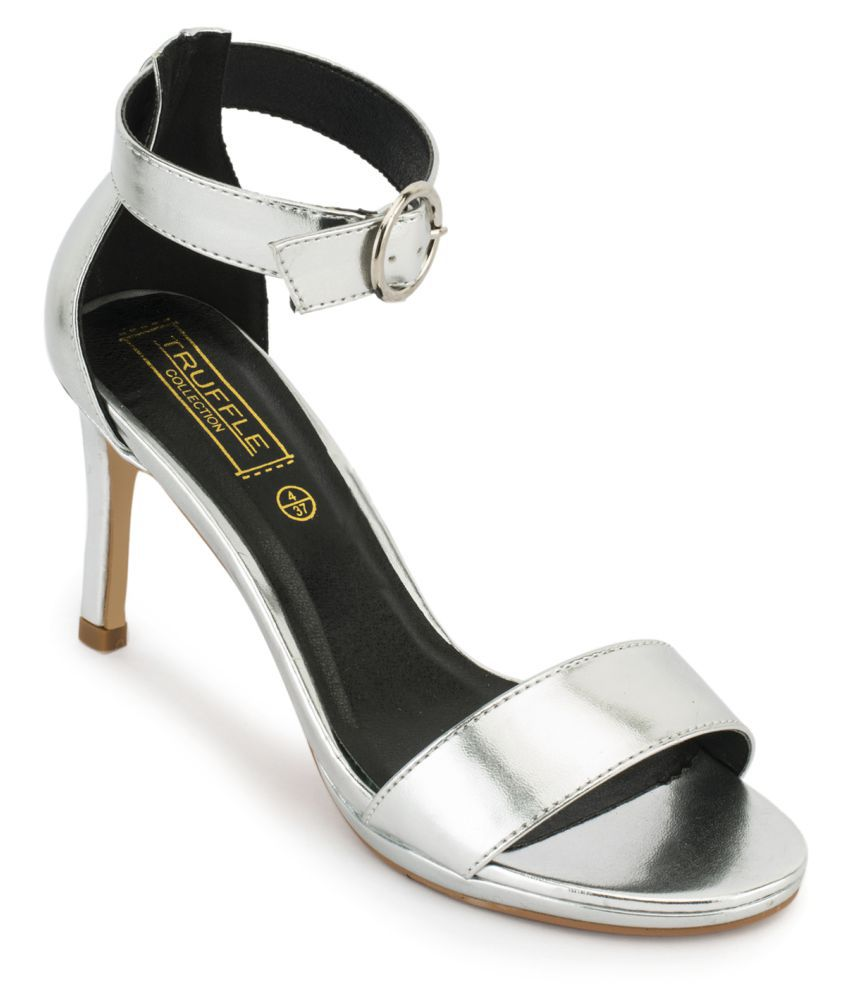 Truffle Collection Silver Stiletto Heels