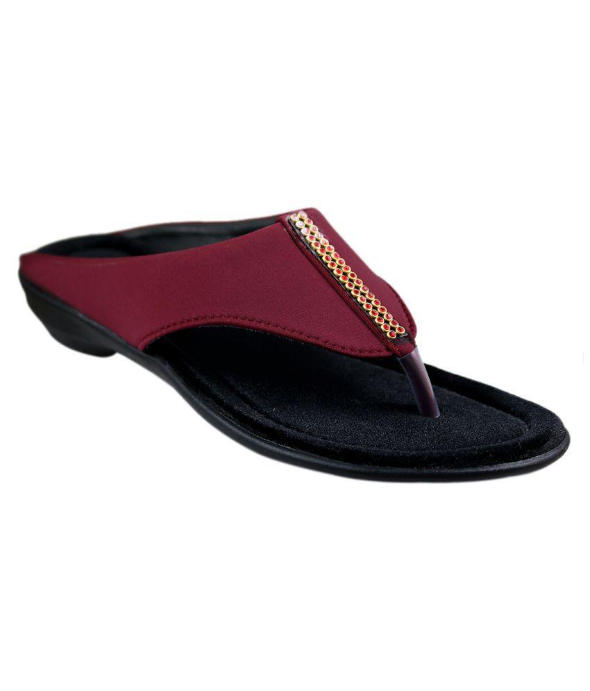 Leatherwood1 maroon Wedges Heels