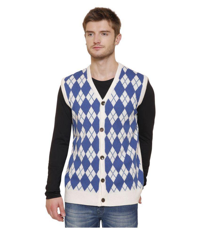 Maggivox Blue V Neck Sweater