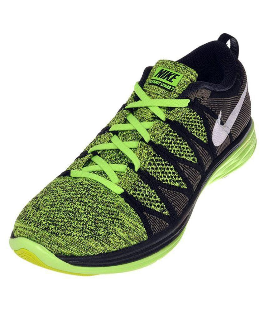 45222d06c95a Nike Flyknit Lunar 2 Lifestyle Green Casual Shoes - Buy Nike Flyknit Lunar  2 Lifestyle Green Casual Shoes Online at Best Prices in India on Snapdeal