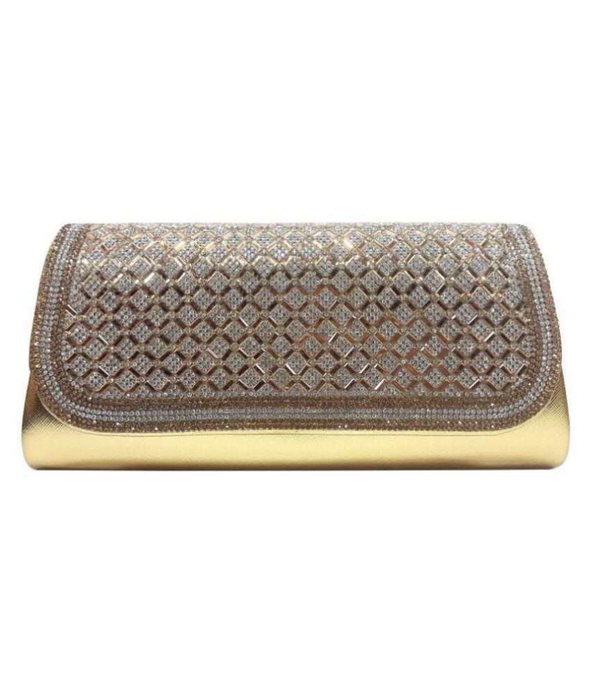 Oglivay Gold Faux Leather Envelope