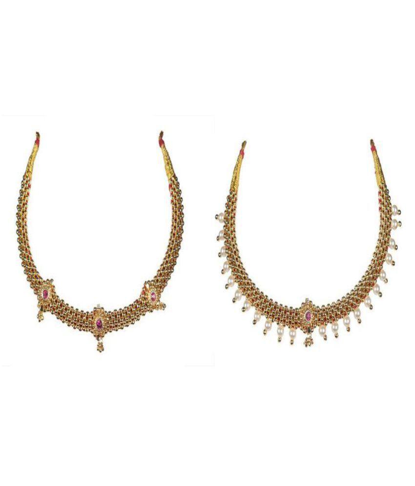 Soubhagya Jewellers Combo Of Valsari Thushi Necklace For Women