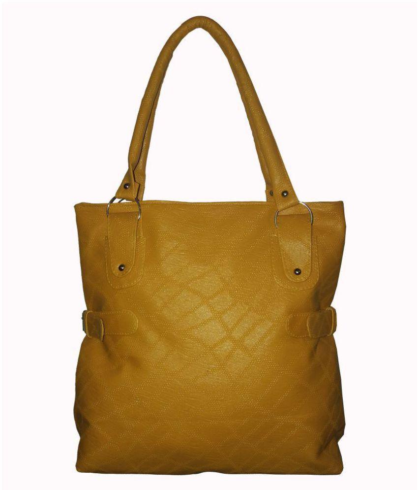 sk noor enterprises Tan Artificial Leather Shoulder Bag