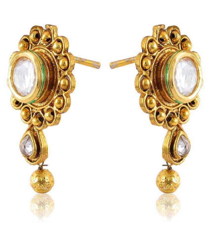 Fahshionforsure Gold Metal Dangle & Drop Earrings for Women (E27)…