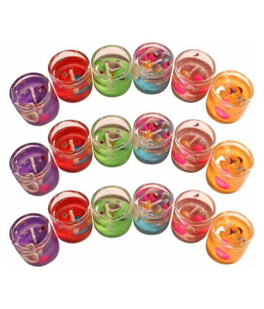 Zarsa Multicolour Wax Tea Light - Pack of 18
