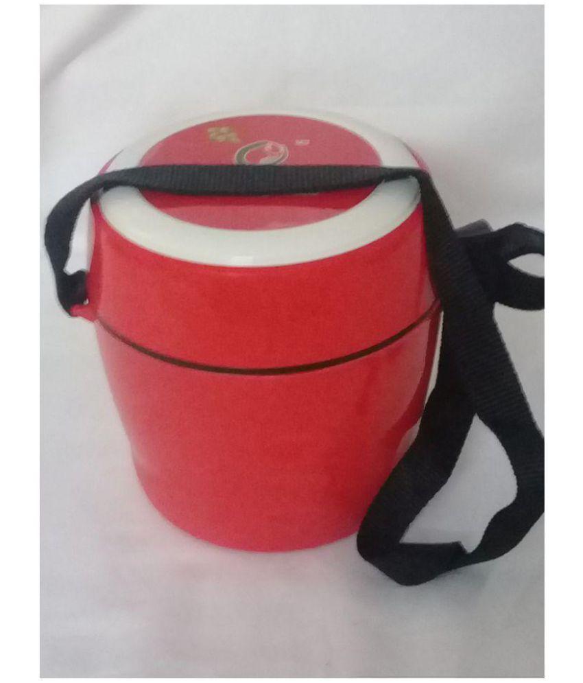 sellersindiya red Polypropylene (PP) Lunch Box