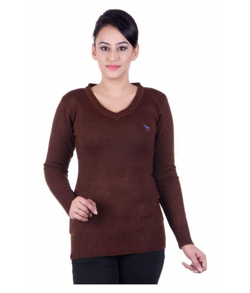 522138424 Japroz Woollen Regular Tops - Brown - Buy Japroz Woollen Regular Tops -  Brown Online at Best Prices in India on Snapdeal
