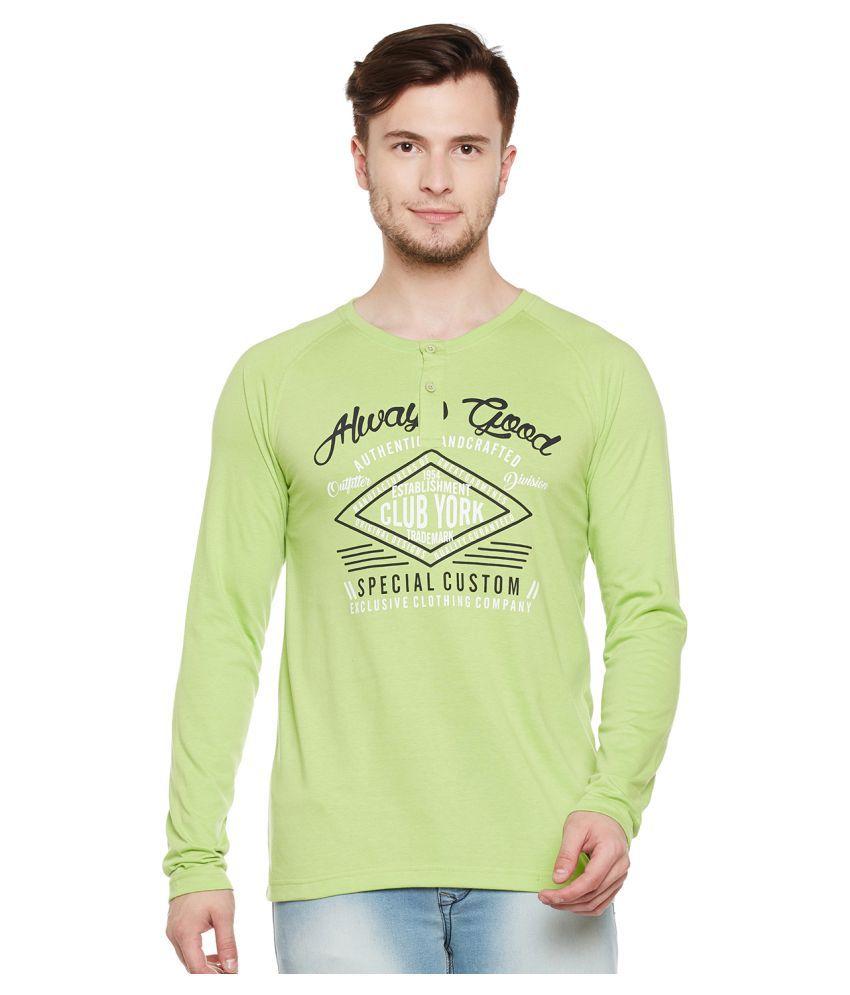 Club York Green Henley T-Shirt