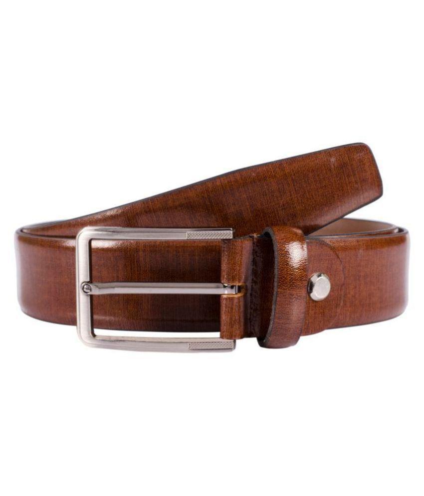 VENER FABICA Tan Leather Party Belts